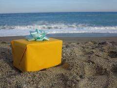 present beach - stock photo
