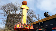 Drop tower for children Stock Footage
