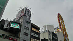 Namba District Osaka Japan 51 pan Stock Footage