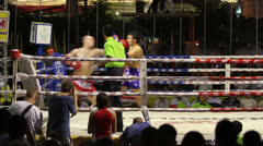 Quick Strike In Muay Thai Kick Boxing Action Stock Footage