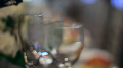 Champagne Pouring Into Glass Stock Footage