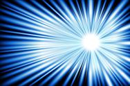 Blue light ray of your power. Stock Illustration