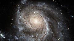 4k resolution rotating galaxy Stock Footage
