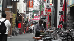 Namba District Osaka Japan 60 Stock Footage