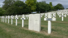 The Craonnelle French military cemetery, France. Stock Footage