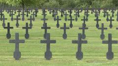The Fort-de-Malmaison German War Cemetery, Picardy, France. Stock Footage