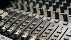 Audio Mixer Dolly Stock Footage