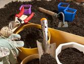 Stock Photo of garden work