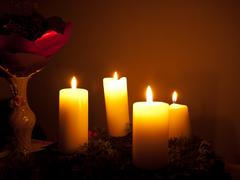 advent candles - stock photo