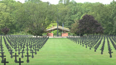The Fort-de-Malmaison German War Cemetery, Picardy, France. Stock Footage