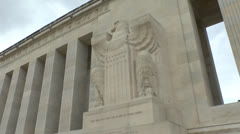 The Aisne-Marne American Monument, Château-Thierry, France. Stock Footage