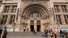 Victoria and Albert Museum. London. Stock Footage