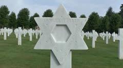 The Oise-Aisne American Cemetery, near Château-Thierry, France. Stock Footage