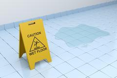 Caution wet floor Stock Illustration