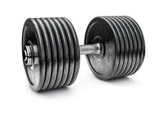 Dumbbell on white Stock Illustration