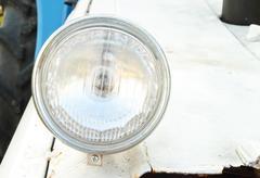 vintage headlamp - stock photo