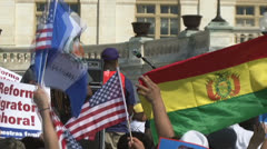 Immigration Reform Rally at U.S. Congress Stock Footage