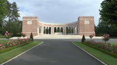 The Oise-Aisne American Cemetery, near Château-Thierry, France. Stock Footage