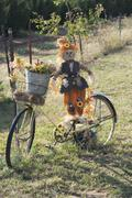 Bicycle ride in the Fall of year - stock photo