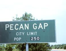 Texas ultra small town sign Stock Photos