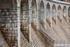 architectural feature bridge dam in sedlice, europe, czech republic - stock photo