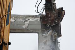 demolition of flats - stock photo