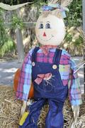 Halloween Straw Man - stock photo