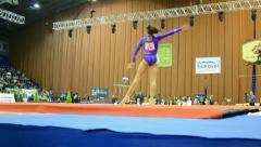Stella Zakharova Cup,International sport gymnastics competition,Kiev,Ukraine. Stock Footage