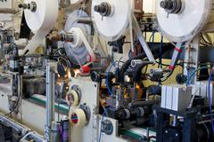 production line in factory - stock photo