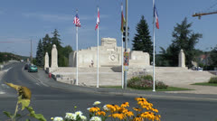 Commonwealth Memorial to the Missing in La Ferte-sous-Jouarre, Aisne, France. Stock Footage