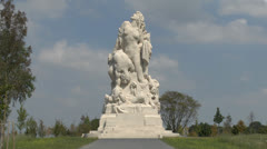 The American Memorial to French Combatants of the Marne,  Meaux, France. Stock Footage