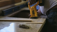Counter top saws all Stock Footage