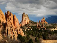 garden of the gods - stock photo
