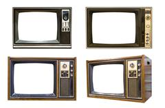retro vintage television 6 - stock illustration