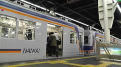 Nankai Namba Station Osaka Japan 1 Stock Footage