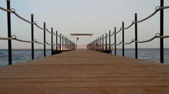 Boat Jetty on the Red Sea Stock Footage