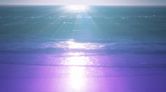 Teal and purple sunset over the ocean #1 Stock Footage