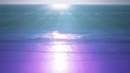 Stock Video Footage of Teal and purple sunset over the ocean #1