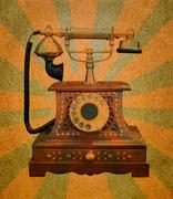 Vintage telephone Stock Illustration