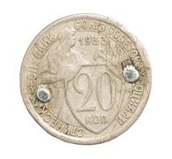 Stock Photo of ussr coins on a white background
