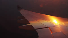 155 Aircraft wing and shadows running on it while turning Stock Footage
