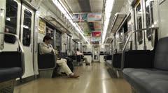Nankai Train in Osaka Japan 4 Stock Footage