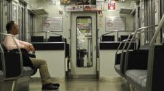 Nankai Train in Osaka Japan 5 Stock Footage