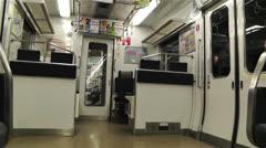 Nankai Train in Osaka Japan 6 Stock Footage