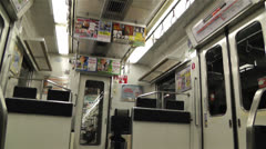 Nankai Train in Osaka Japan 7 Stock Footage