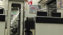 Nankai Train in Osaka Japan 8 Stock Footage