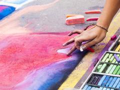 Chalk drawings Stock Photos