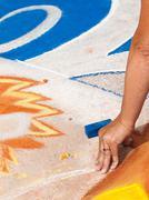 chalk drawings - stock photo