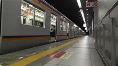 Nankai Train in Osaka Japan 9 Stock Footage