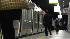 Nankai Train in Osaka Japan 10 Stock Footage